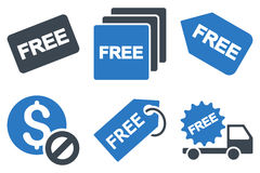 Free Tag Flat Glyph Icons Stock Images