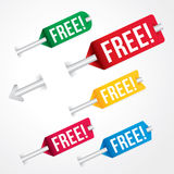free tag, free sign, free label Royalty Free Stock Photography