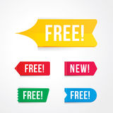free tag, free sign, free label Royalty Free Stock Photos