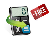 Free tag and modern calculator Stock Photography