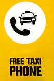 Free taxi phone Stock Image