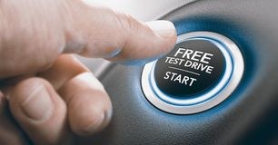 Free Test Drive Offer. Royalty Free Stock Image