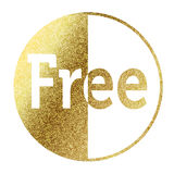 Free. Text in bright gold Stock Photos