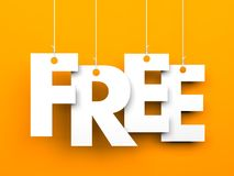 Free. Text on the string Stock Images