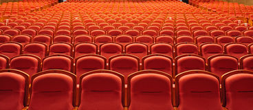 Free theater seats Stock Image