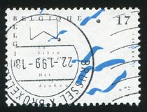 Free Thinking. RUSSIA KALININGRAD, 26 OCTOBER 2015: stamp printed by Belgium, shows Free Thinking, circa 1998 royalty free stock images