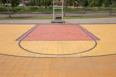 Free throw lines of the public basketball court Royalty Free Stock Photography