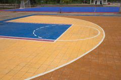 Free throw lines of the public basketball court Royalty Free Stock Image