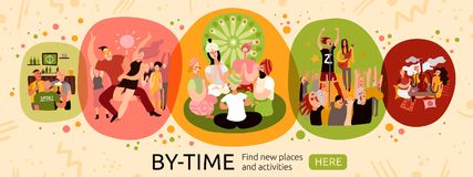 Free Time Activities Banner Royalty Free Stock Image