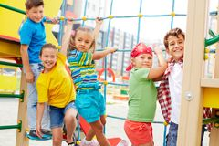 Free time on playground Royalty Free Stock Photos