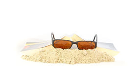 Free time reading a novel and sunglasses Royalty Free Stock Photo
