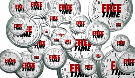 Free Time Spare Moments Clocks Flying Royalty Free Stock Photos