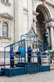 Free tour guides in St Stephen Basilica in Budapest Royalty Free Stock Photography
