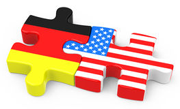 Free trade agreement. 3d generated picture of a free trade agreement between germany and usa stock illustration