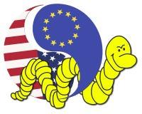 Free trade Agreement USA and EU Stock Photos