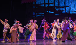 """Free trade market-Dance drama """"The Dream of Maritime Silk Road"""". Dance drama """"The Dream of Maritime Silk Road"""" centers on the plot of two Stock Images"""