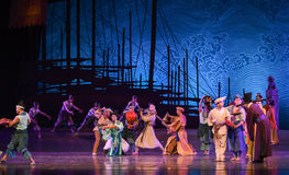 """Free trade market-Dance drama """"The Dream of Maritime Silk Road"""". Dance drama """"The Dream of Maritime Silk Road"""" centers on the plot of two Stock Photography"""