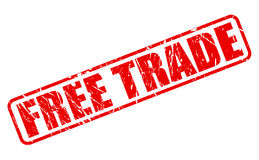 Free trade red stamp text Royalty Free Stock Photo