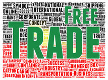 Free trade word cloud shape Stock Photography