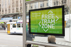 Free tram zone in Melbourne Royalty Free Stock Photography