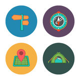 Free travel icons. This is a vector illustration of free travel icons Stock Photos