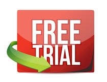 Free trial arrow label Royalty Free Stock Images