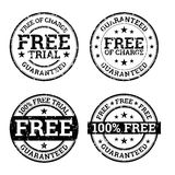 Free Trial Black and White Stamps Royalty Free Stock Photos