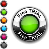 Free trial  button. Free trial  realistic green button Stock Photography