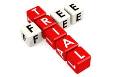 Free trial buzzword in red and white Royalty Free Stock Photo