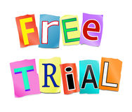 Free trial concept. Royalty Free Stock Images