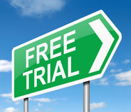 Free trial concept. Stock Image