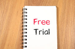 Free trial concept on notebook Royalty Free Stock Photography