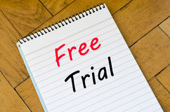 Free trial concept on notebook Royalty Free Stock Photos
