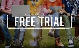 Free Trial Demo Offer Special Testing Bonus Concept Stock Photo