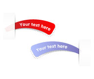 Free trial labels. Vector. Royalty Free Stock Photo