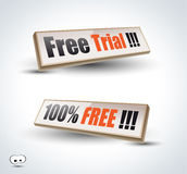 Free Trial Panel for Advertise. Or Promotional Offers Royalty Free Stock Photos
