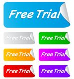 Free trial,rectangular stickers Stock Photography