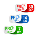 Free trial signs. Vector illustration of free trial signs Royalty Free Stock Images
