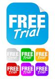 Free trial, square stickers Royalty Free Stock Photo