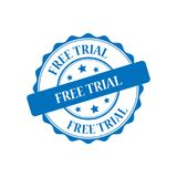 Free trial stamp illustration Stock Photography