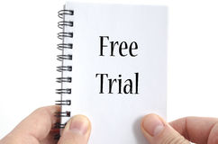 Free trial text concept Stock Photography