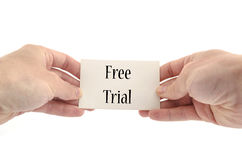 Free trial text concept Royalty Free Stock Photos