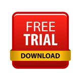 Free trial. Vector illustration isolated on white background - free trial download button vector illustration