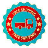Free Truck Shipping Sticker Stock Photos