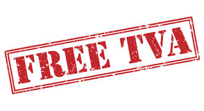 Free tva red stamp Royalty Free Stock Image