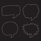 Free Vector Hand drawn bubbles speech. An images of Free Vector Hand drawn bubbles speech Stock Images