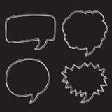 Free Vector Hand drawn bubbles speech. An images of Free Vector Hand drawn bubbles speech Stock Photo