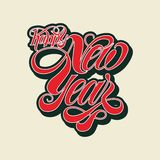 Free Vector Happy New Year Typography vector illustration