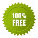 100 free vector icon. 100 free vector star sticker icon Royalty Free Stock Photos