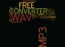 Free Wav To Mp Converter Text Background  Word Cloud Concept. FREE WAV TO MP CONVERTER Text Background Word Cloud Concept Stock Photography